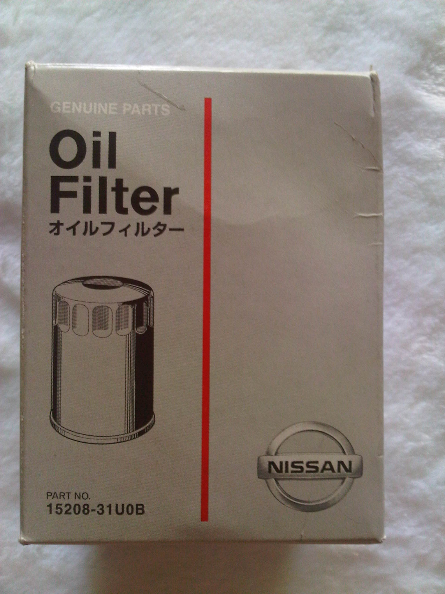 Nissan Original Oil Filter 15208-31U0B